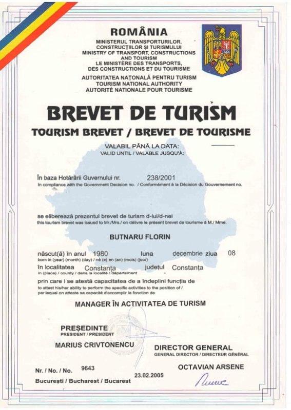 brevet de turism