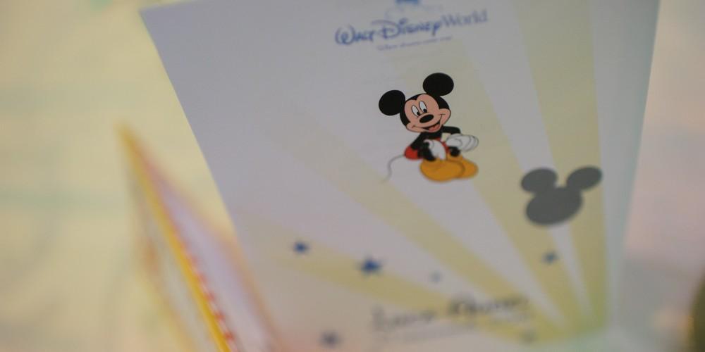 Coperta Meniu Botez Mickey Mouse