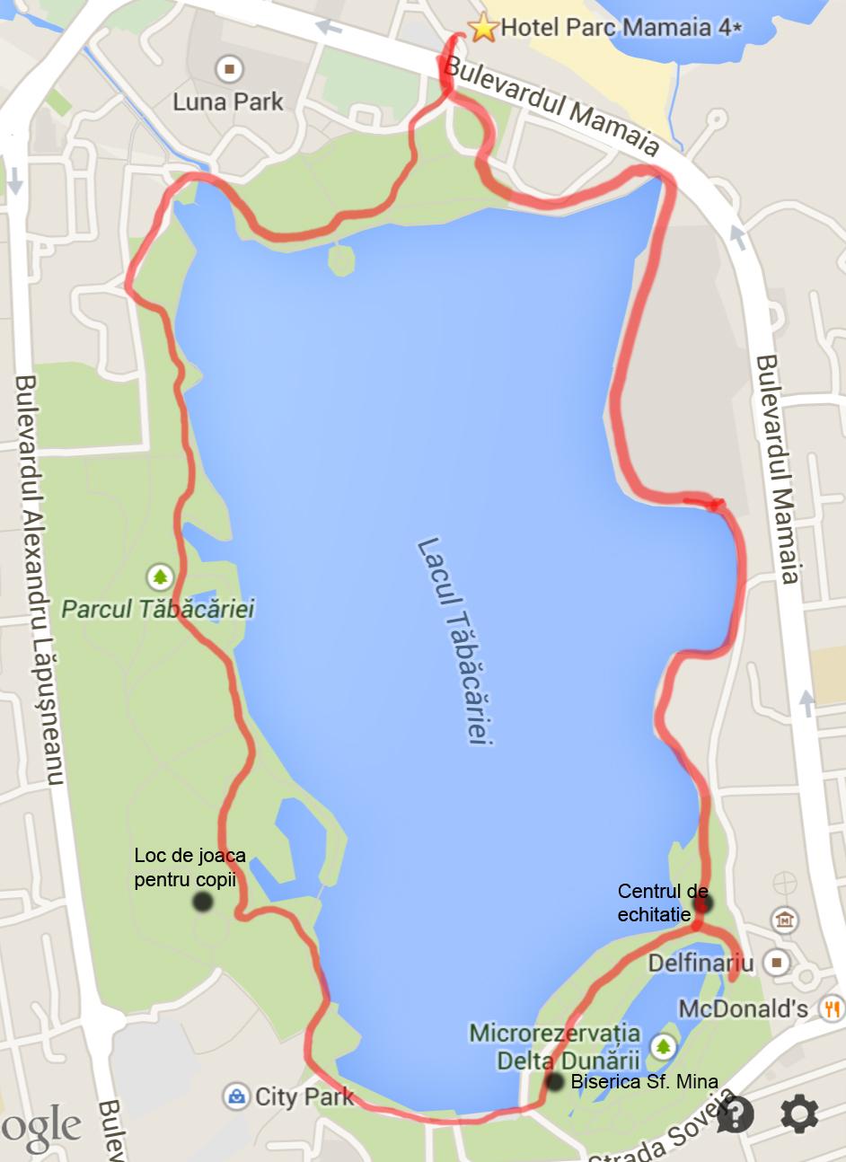 harta traseu biciclete mamaia