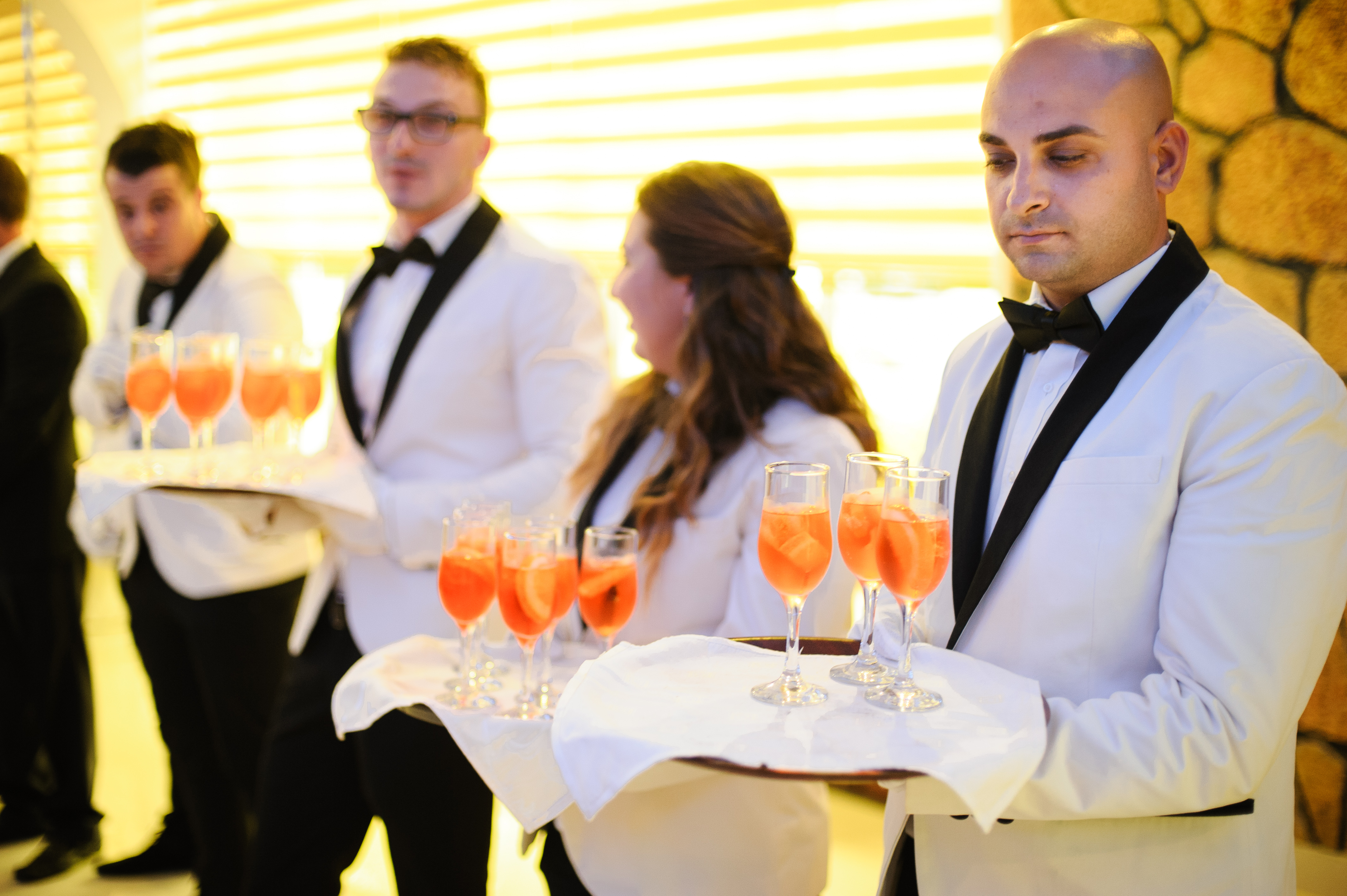 Waiters cocktail reception
